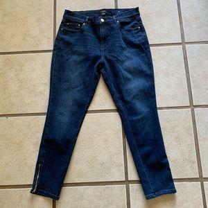 Ann Taylor Factory size 10 petite ankle jeans EUC